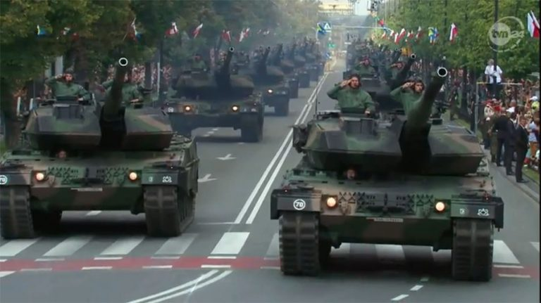 Huge military parade in Poland